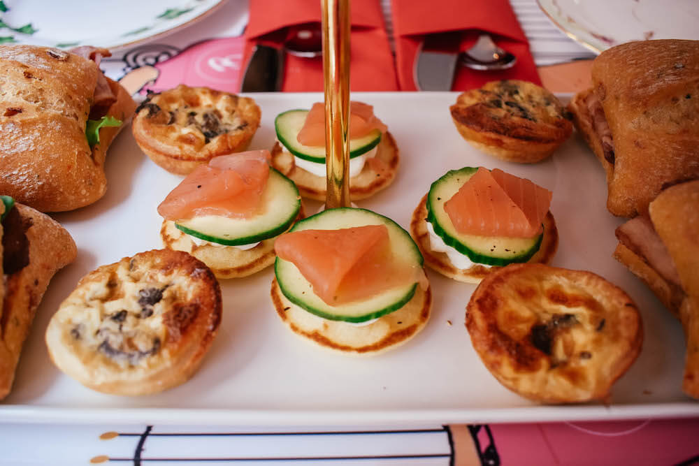 Some of the savoury treats in our afternoon tea selection