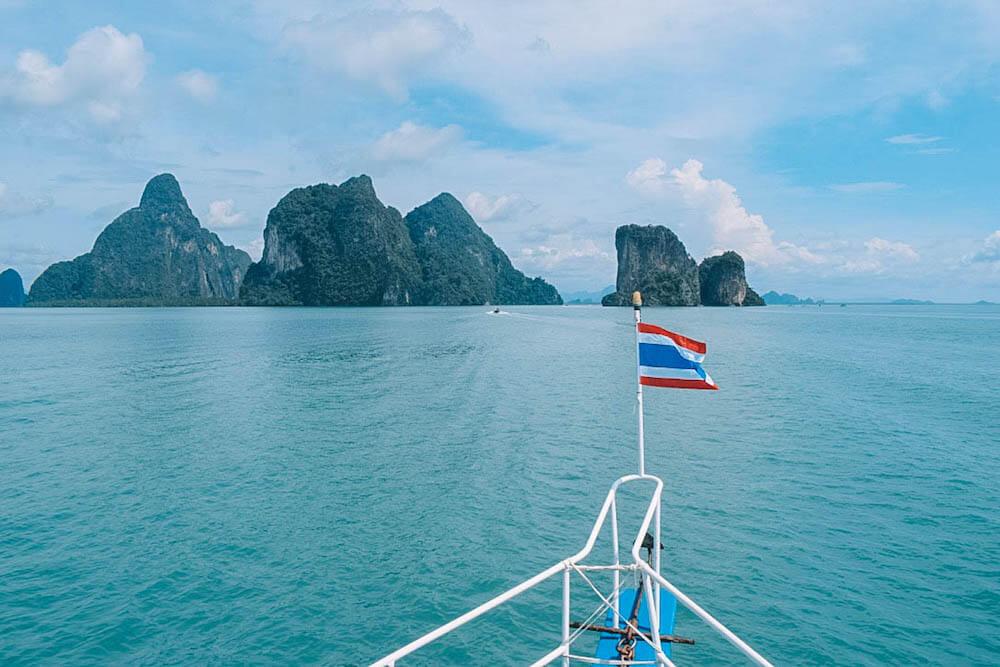Cruising in Phang Nga Bay. Thailand