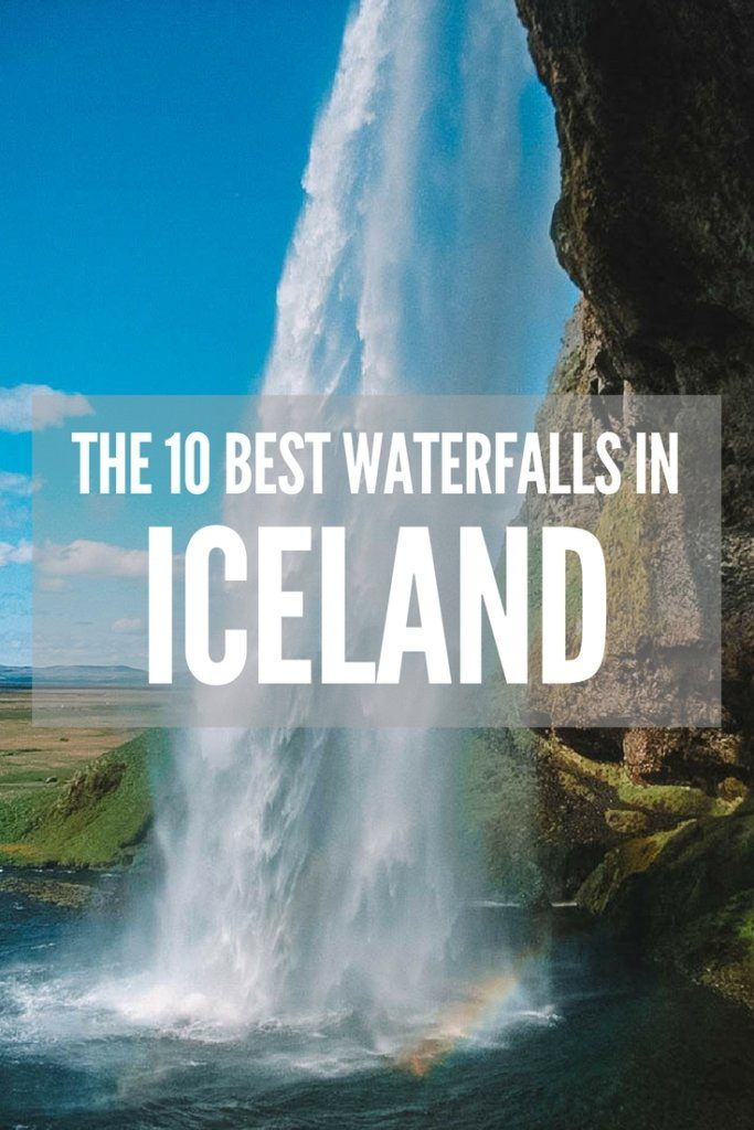 There are over 10,000 waterfalls in Iceland. If you're planning a trip there and aren't sure which ones are worth seeing, this is the guide for you. Discover the exact location of all the best waterfalls in Iceland! #waterfalls #iceland #bestwaterfallsiniceland
