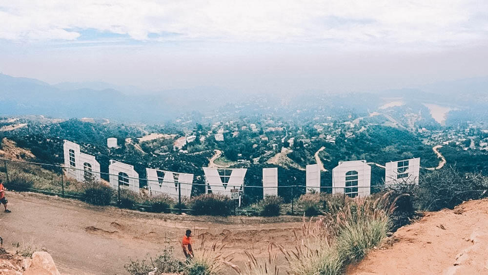 LA seen from behind the Hollywood sign, photo by Mona Corona
