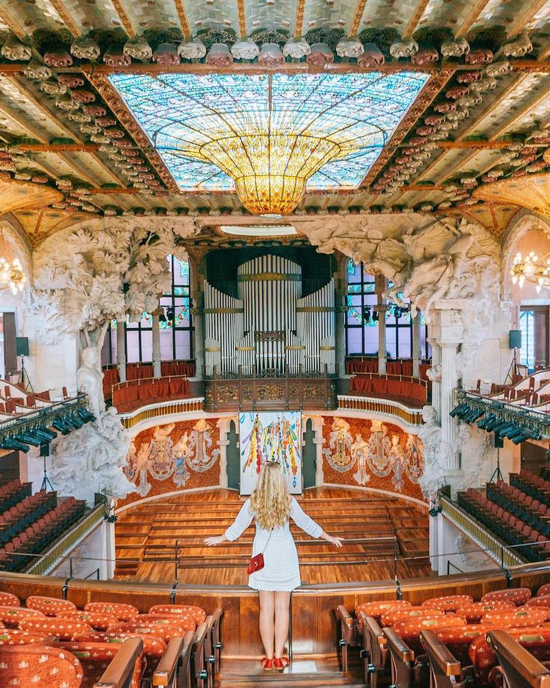 The interior of the Palau de la Musica Catalana - photo by Marta of Where Life Is Great