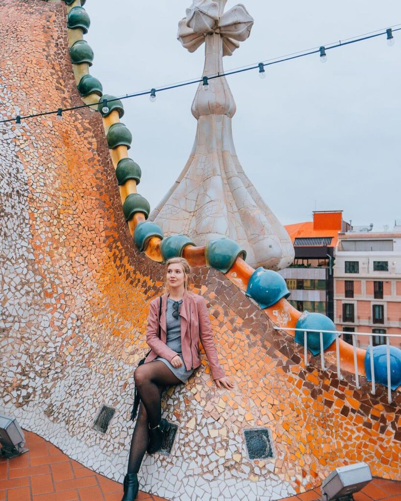 The rooftop of Casa Battlo in Barcelona - photo by Marta of Where Life Is Great - one of the best Instagram photo spots in Barcelona