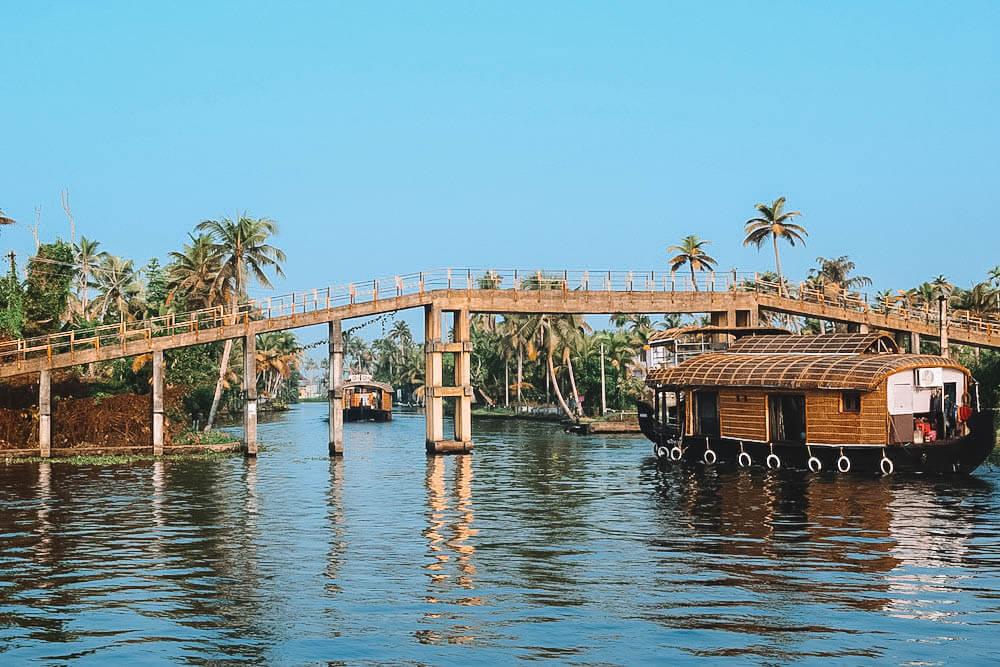 Cruising the backwaters of Kerala, India