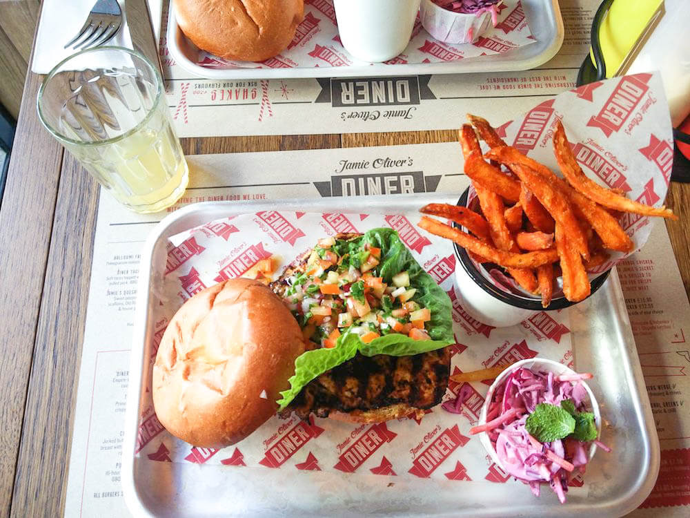 Food from Jamie Oliver's, photo by Together in Transit