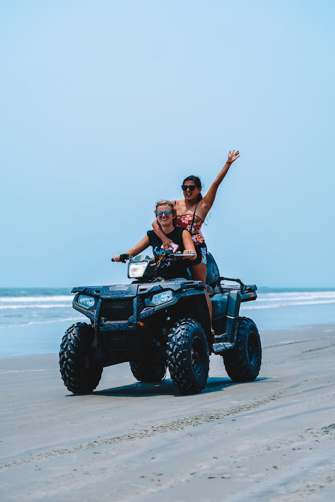 Me and Karla from @karlaroundtheworld quad biking in Kannur. Photo by Jinson Abraham @jinsabraham @keralatourism
