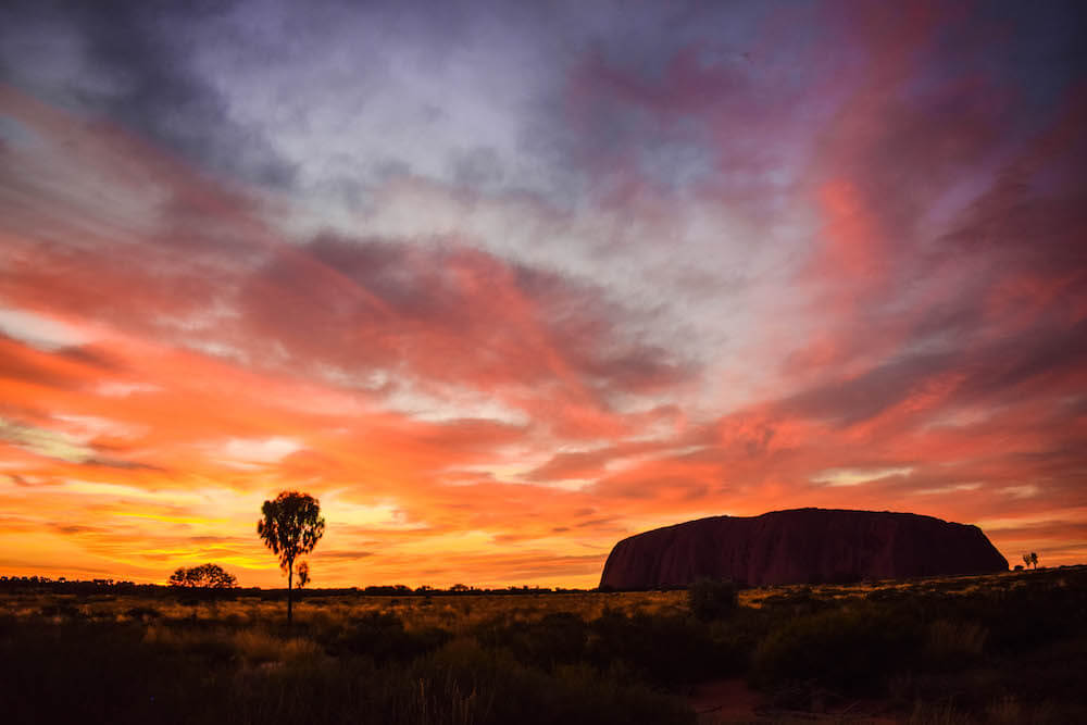 Sunrise at Uluru (or Ayers Rock), Australia