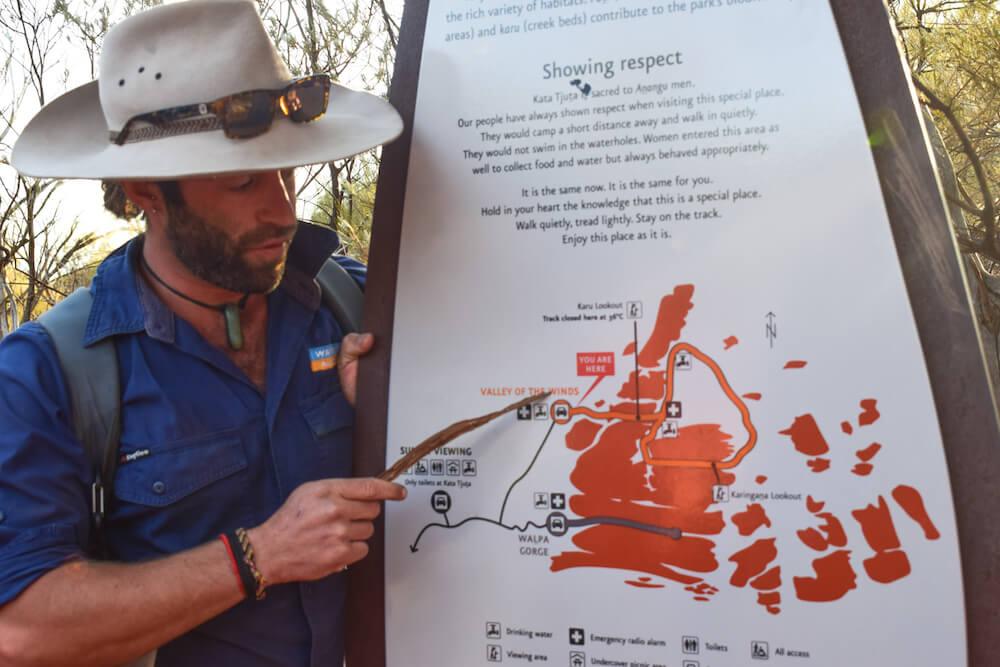Wide rim hat in Uluru, Australia