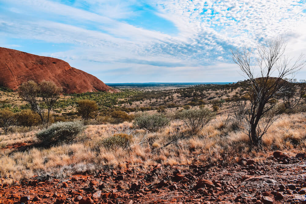 View over the Australian outback from Kata Tjuta
