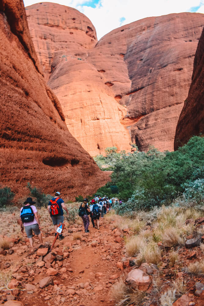Hiking in the Valley of the Winds in Kata-Tjuta, Australia