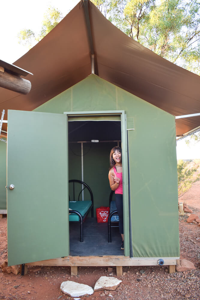 Our tent at Kings Creek Cattle Station, Australia