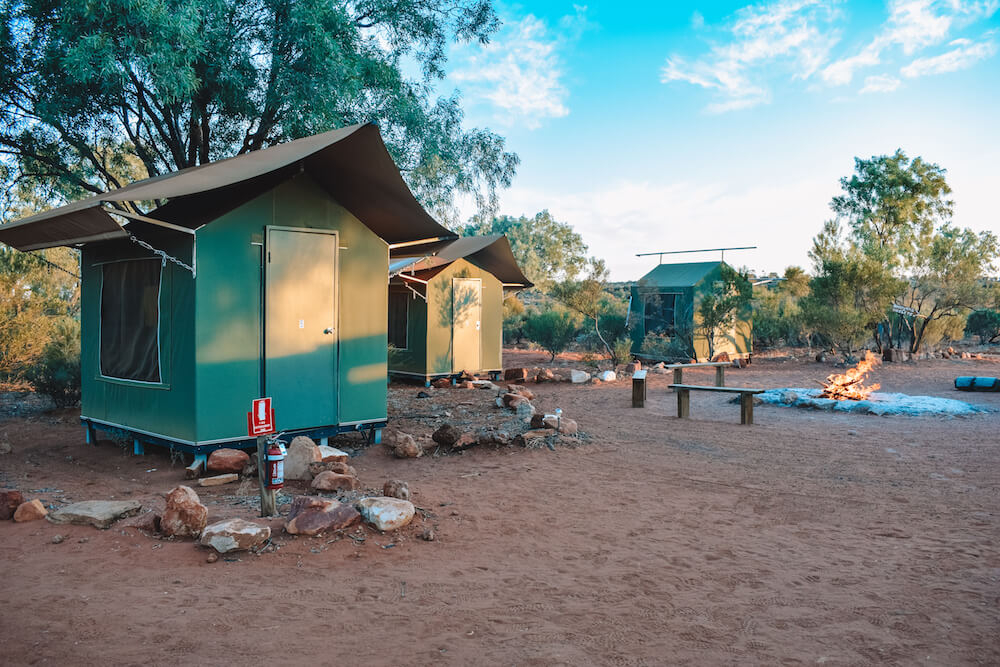 Our camp at Kings Creek Cattle Station, Australia