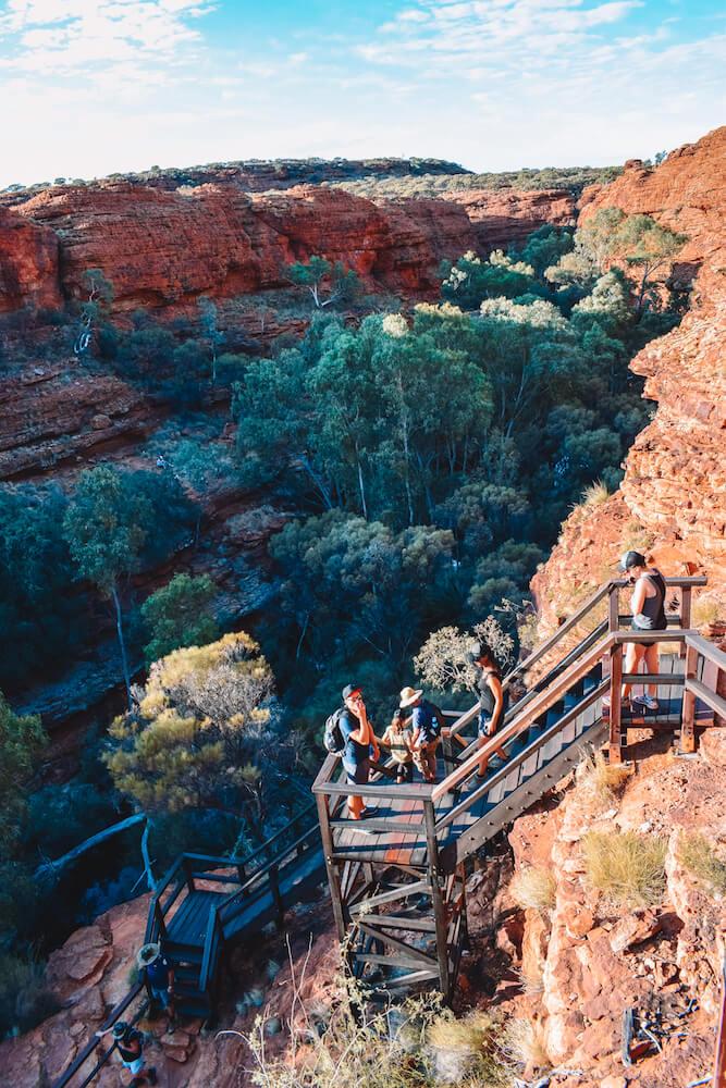 Hiking in Kings Canyon, Australia