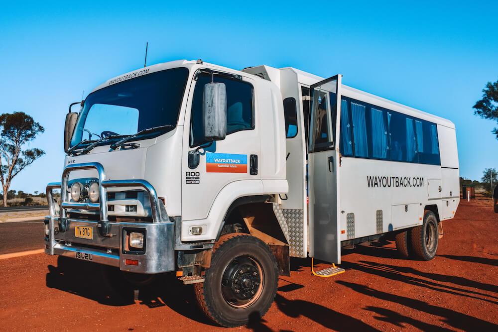 The Wayoutback Australian Safaris 4WD vehicle we did the 3-day Uluru tour with
