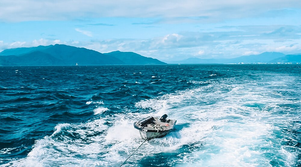 Enroute to the Great Barrier Reef from Cairns, Australia