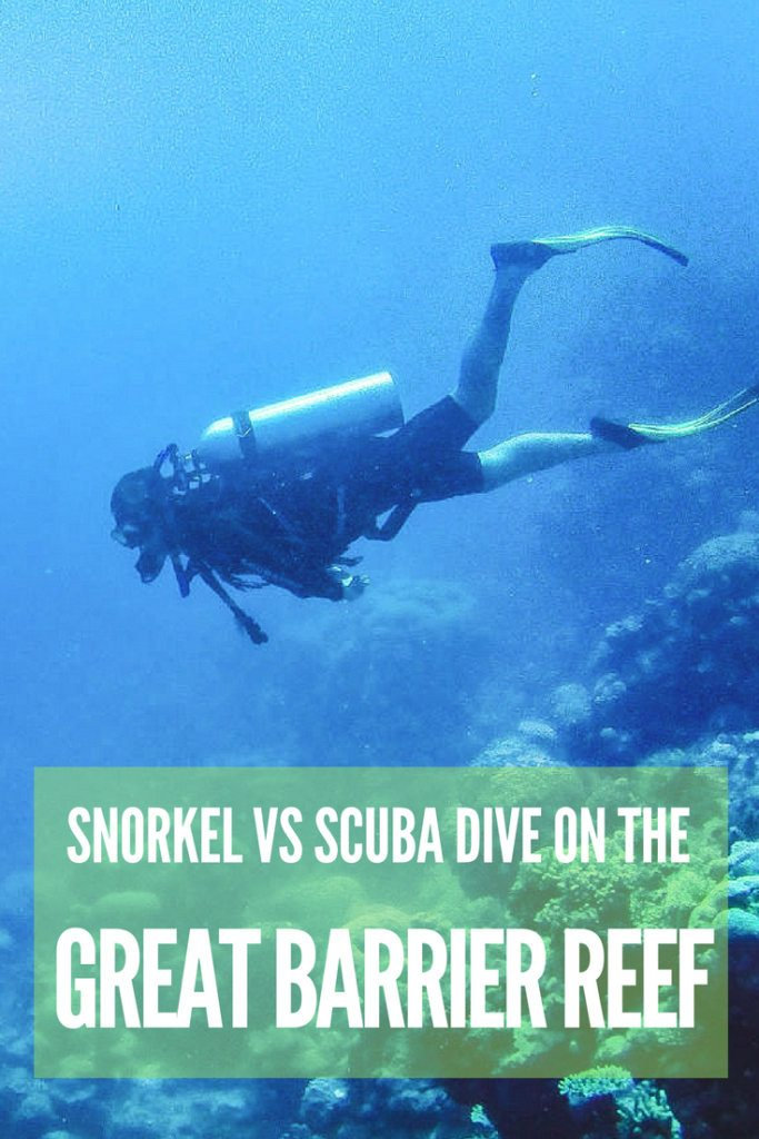 So you've booked that dream trip to the Great Barrier Reef but aren't sure whether you should snorkel or scuba dive? This article will help you decide. We have listed all the advantages and disadvantages of both snorkelling and scuba diving, to help settle once and for all the scuba diving vs snorkeling debate. #scubadiving #snorkeling #greatbarrierreef #australia #cairns #scubadivingvssnorkeling #fish #coral #ocean