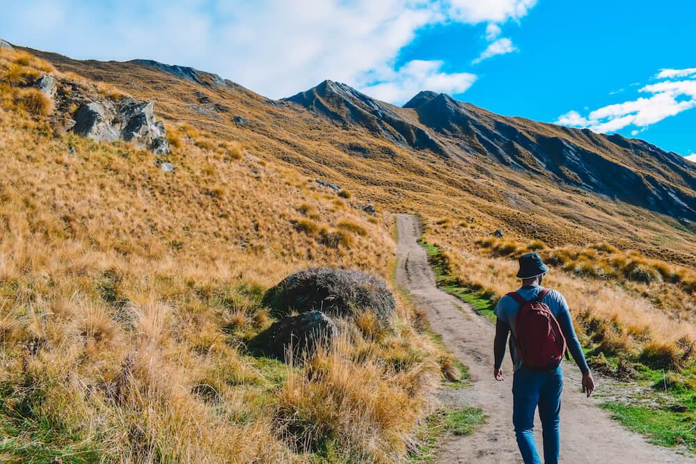 Hiking up Roy's Peak, New Zealand