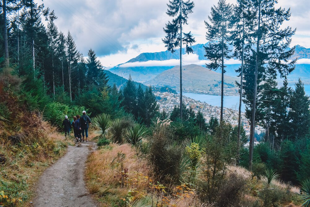 Views over Queenstown from the Tiki Trail
