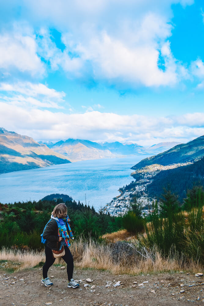Hiking up Queenstown Hill, New Zealand