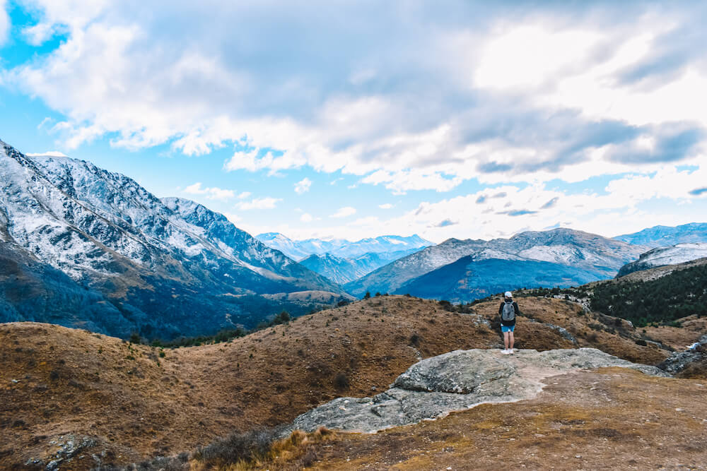 Mountain views from Queenstown Hill, New Zealand