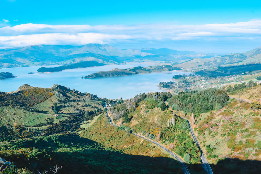 The view from the top of the Sugarloaf Scenic Reserve, New Zealand
