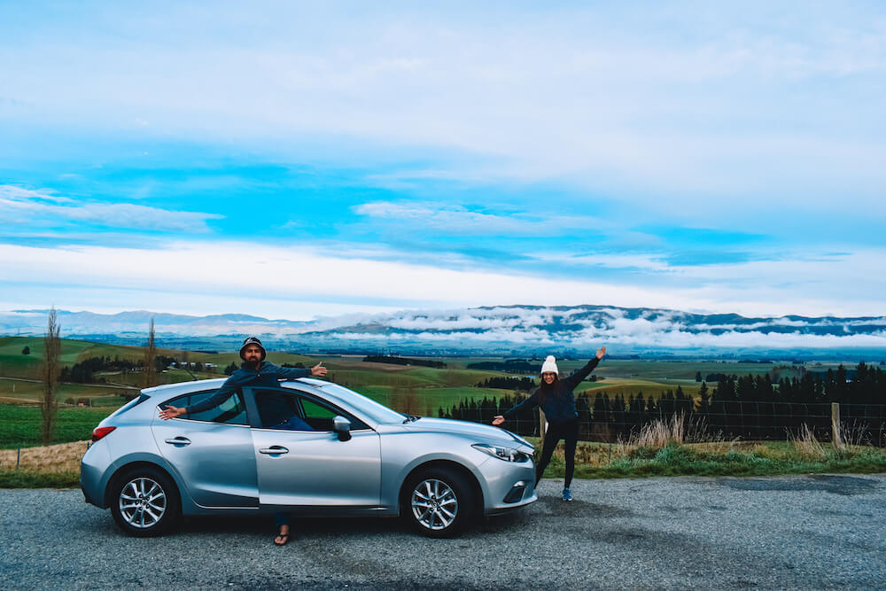 Enjoying beautiful landscapes during our New Zealand South Island road trip with JUCY World