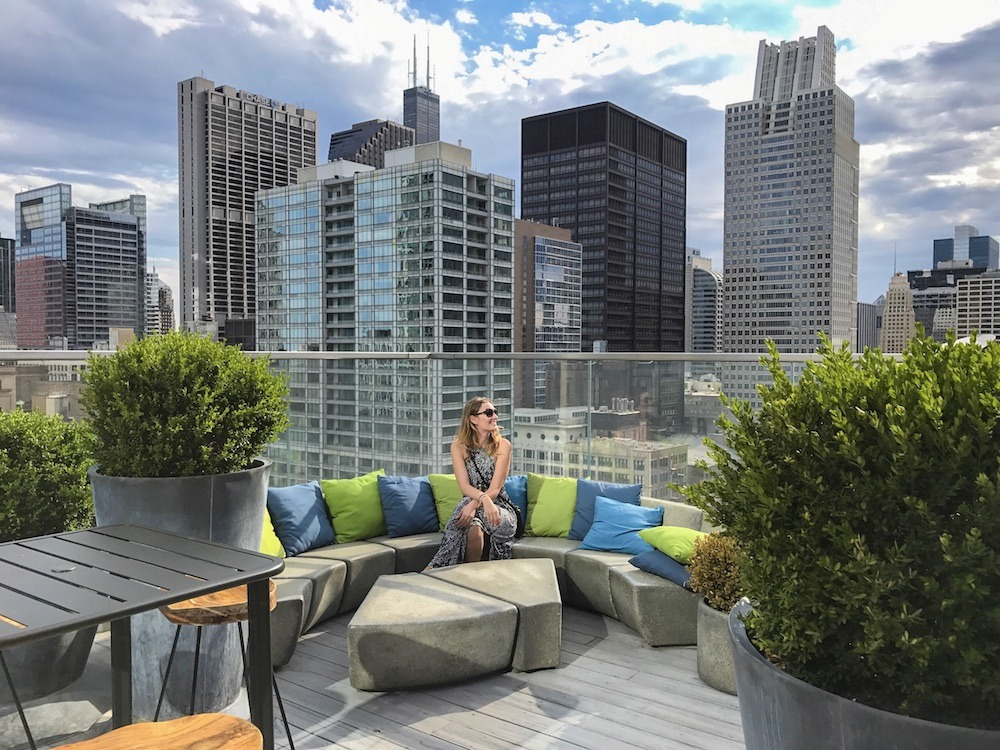 Enjoying the rooftop bars of Chicago, photo by From Here To Sunday