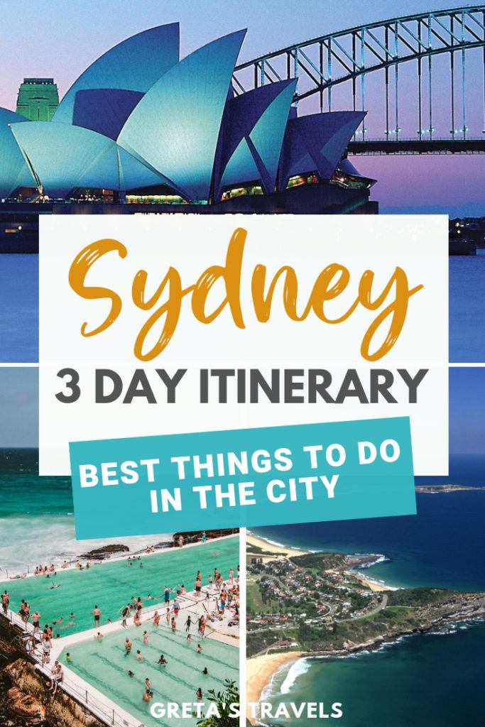 Sydney is one of the most popular and visited cities in Australia. Discover all the best things to do in Sydney in 3 days with this Sydney 3-day itinerary. #sydney #australia #travelblog #travel #bestofsydney #travelitinerary #oceania #traveltips #sydneytraveltips
