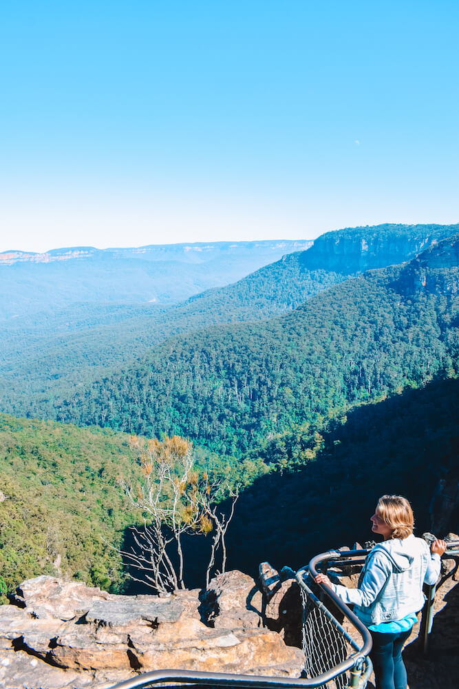 Enjoying the view over Blue Mountains in Australia