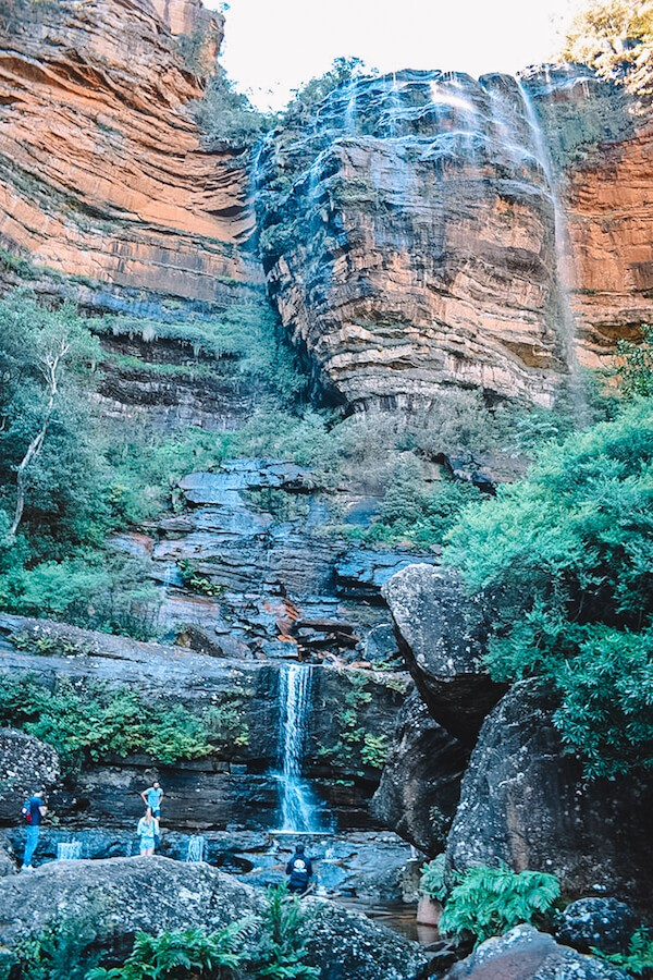 At the base of Wentworth Falls in Blue Mountains, Australia