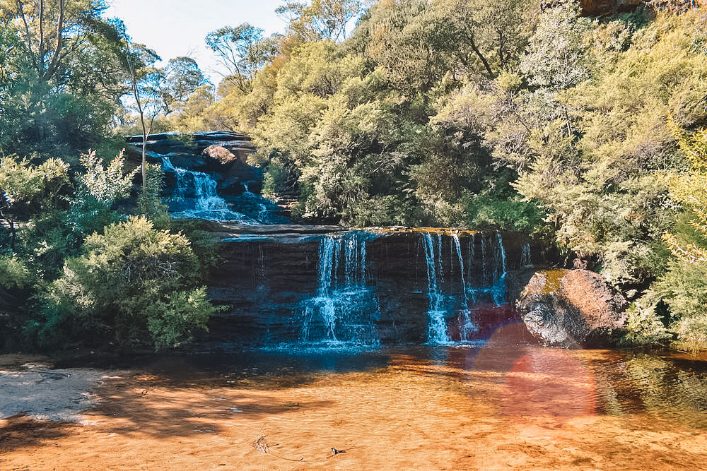The start of Wentworth Falls, Australia