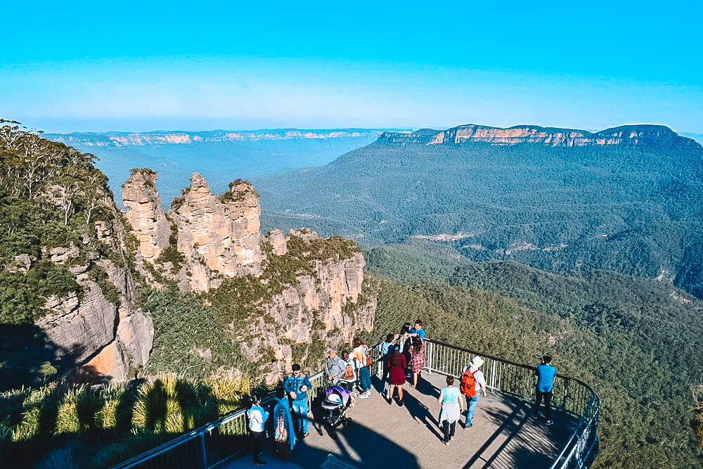 View over the Three Sister in Blue Mountains National Park, Australia
