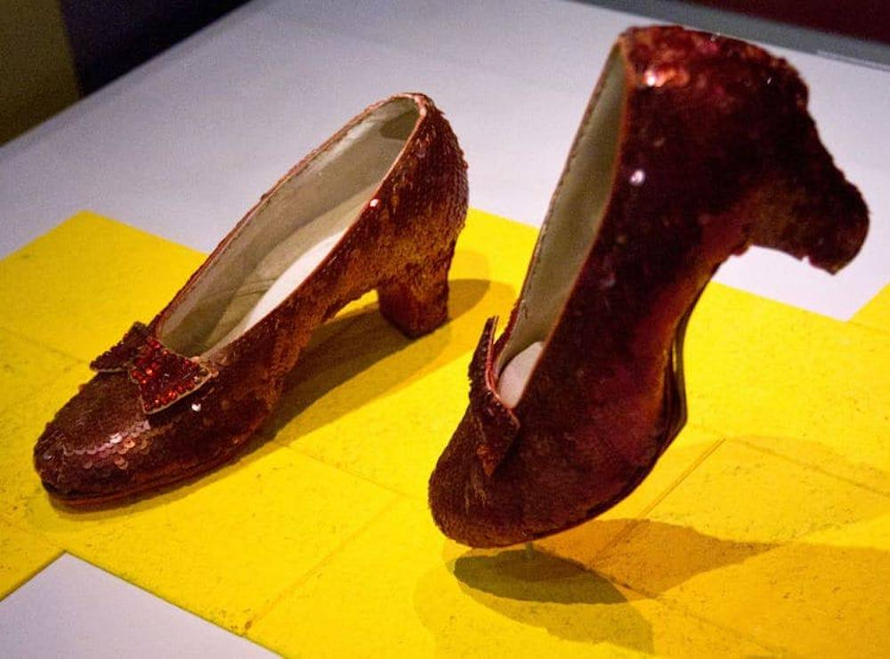 Ruby Slippers worn by Judy Garland in The Wizard of Oz, on display at the Museum of American History, photo by Travel As Much
