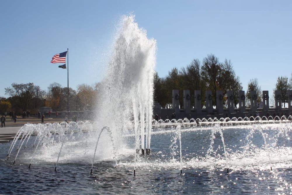 The World War II Memorial in Washington DC, photo by Travel As Much