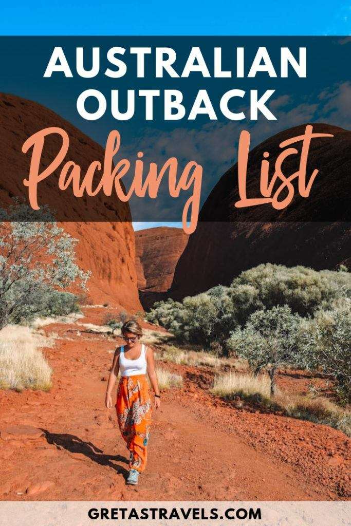 Planning a trip to Uluru in Australia but not sure what you should bring with you? Check out this outback packing list to find out everything you might need. #australia #outback #packinglist #uluru #australiatraveltips