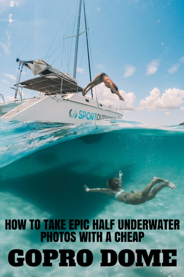Want to take epic half underwater photos? Find out how with these over / under photography tips & review of the best GoPro dome. #gopro #goprodome #photographytips