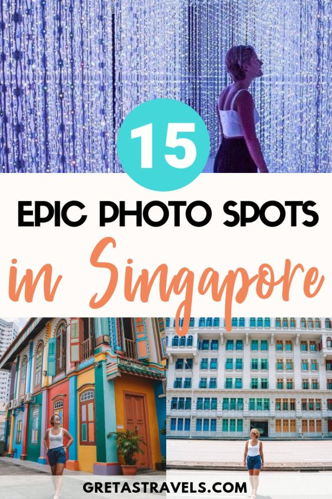 Want to make sure you take photos of all the most Instagrammable places in Singapore to share on Instagram? This list of all the most Instagram worthy places in Singapore covers them all! #singapore #instagram #photospots #cloudforest #marinabaysands #gardensbythebay