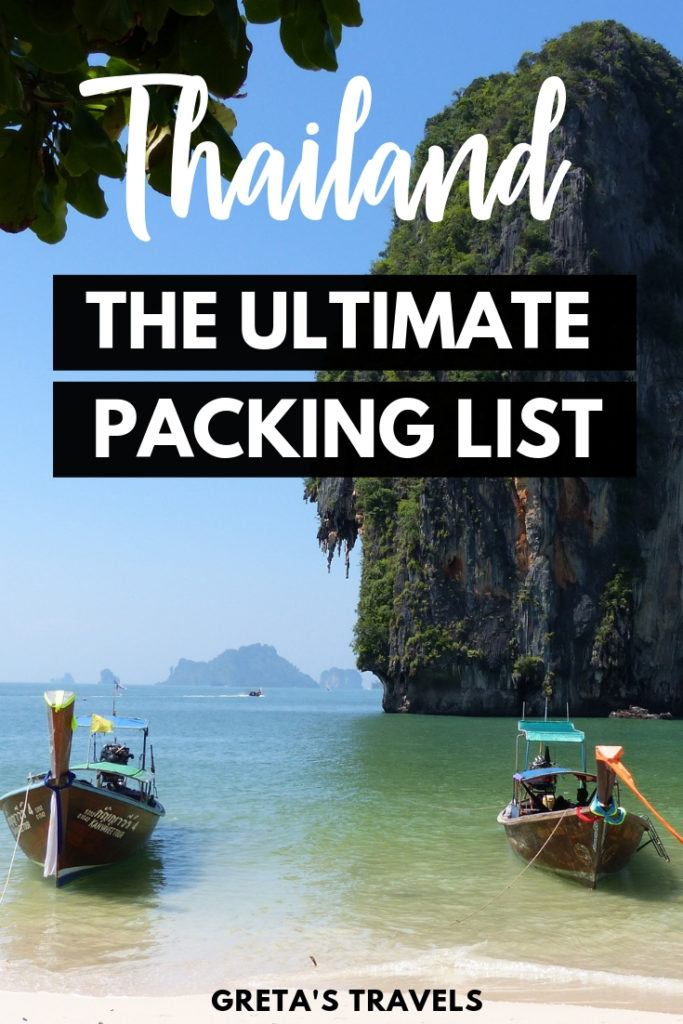 Planning a trip to Thailand during the rainy season but not sure what to pack? This Thailand packing list runs you through everything you need to pack for Thailand in November (or any other rainy season month!) #thailand #packinglist #thailandpackinglist #november #whattopack #traveladvice #packingadvice #thailandtraveltips