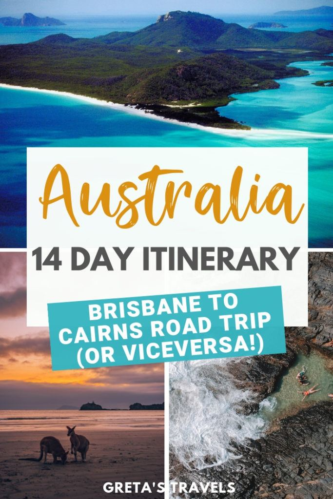 Planning a road trip along the East Coast of Australia? Check out this Cairns to Brisbane 2-week itinerary! Discover all the best places to visit and things to do if you're planning on spending 14 days doing a Brisbane to Cairns road trip (or vice versa)! #australia #cairns #brisbane #eastcoast #roadtrip #itinerary #2weeks #traveltips #australiatraveladvice #australiatraveltips #traveladvice