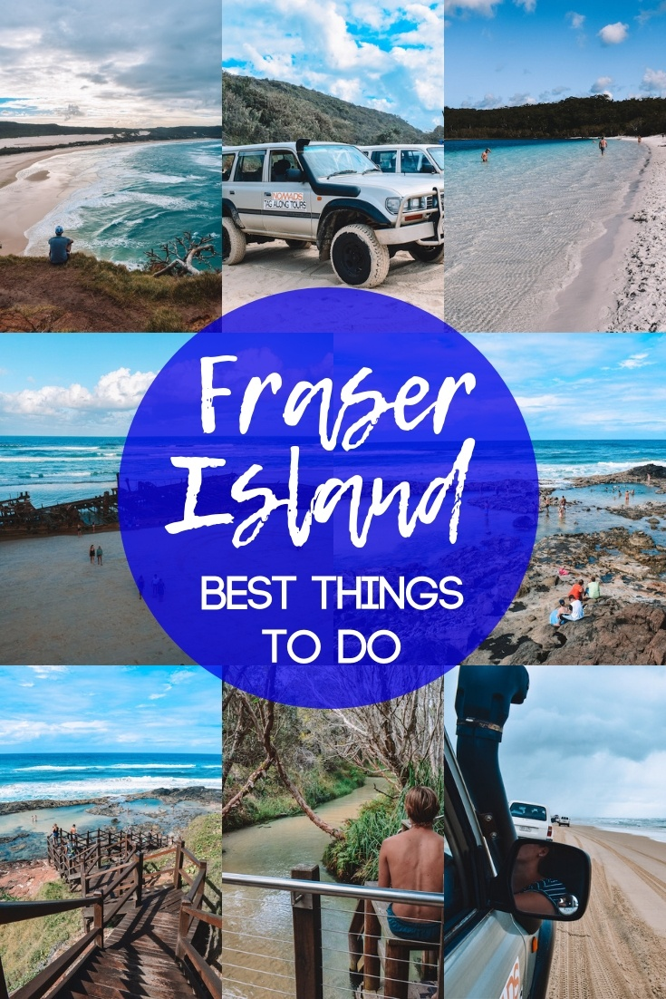Fraser Island is a beautiful and wild island off the coast of Australia, and a popular travel destination. Discover the best things to do on Fraser Island with this complete Fraser Island 3-day tour and travel guide. #fraserisland #australia #dingos #champagnepools #4wd #travelguide #3dayitinerary