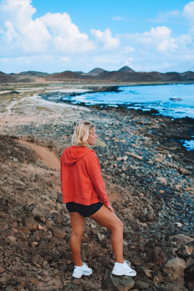 Exploring Lobos Island in the Canary Islands, Spain