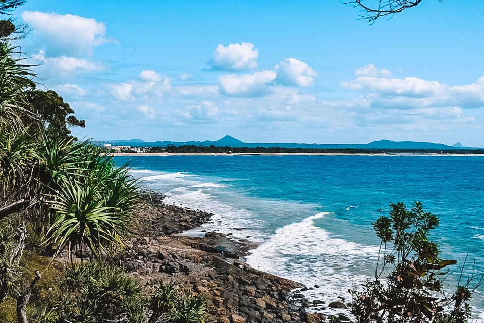 Epic views over the sea from the Coastal Walk in Noosa National Park, Australia