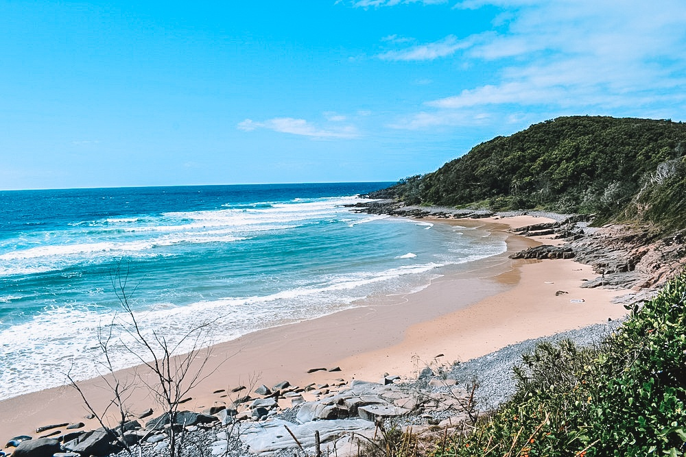 Granite Bay, on the Coastal Walk from Noosa Heads to the fairy pools