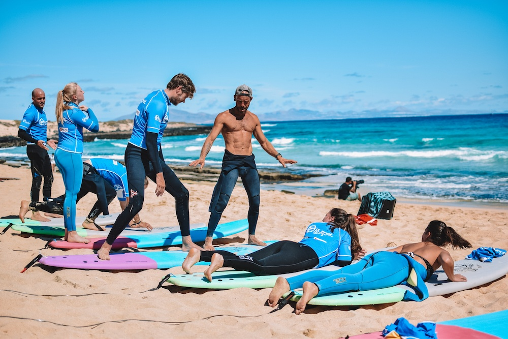 Learning to surf in Fuerteventura with Planet Surf Camps