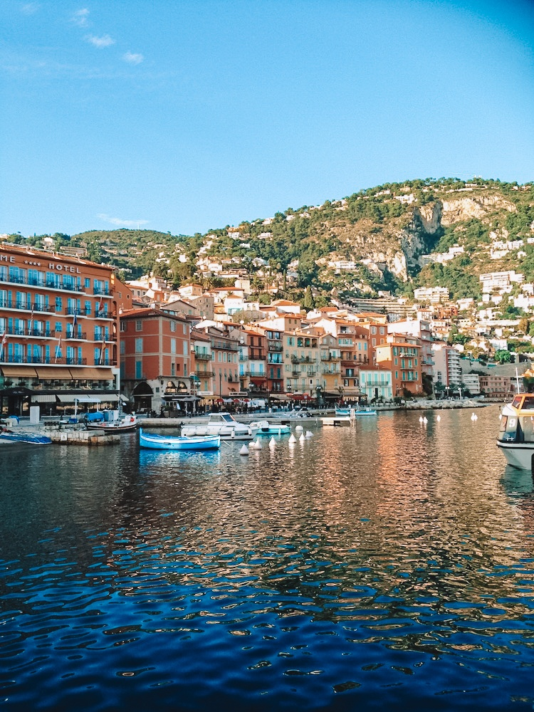 The colourful houses of Villefranche Sur Mer in France