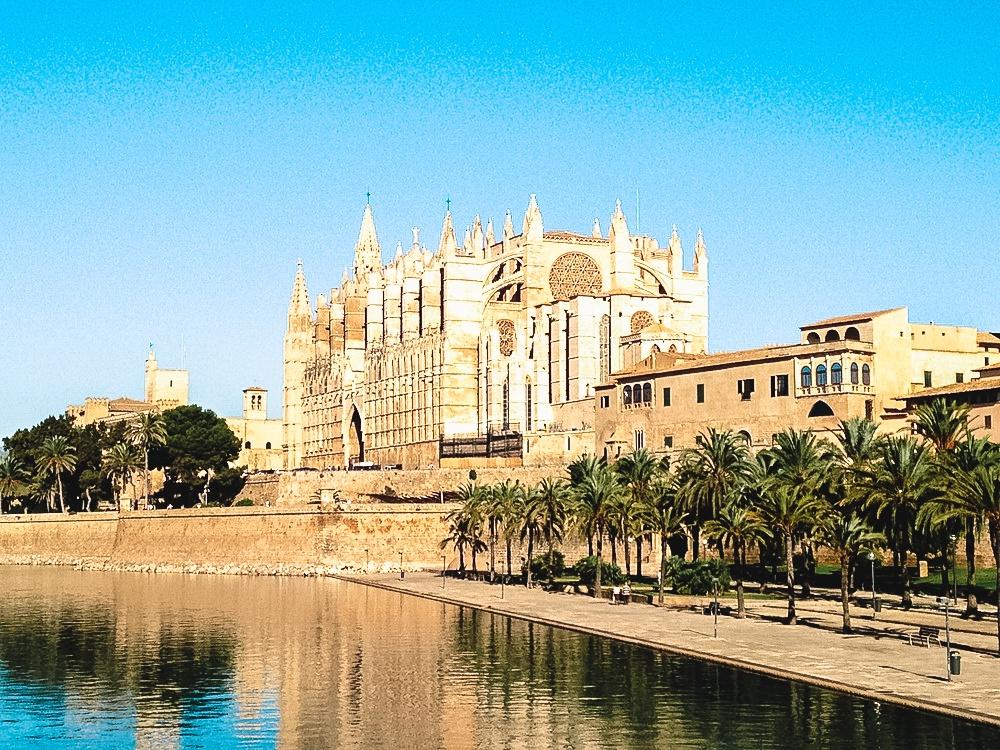 La Seu, the cathedral of Palma de Mallorca in Spain