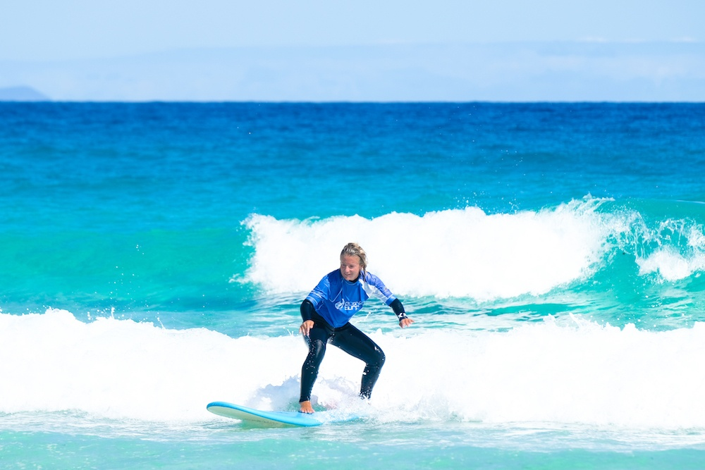 Surfing in Fuerteventura, Spain