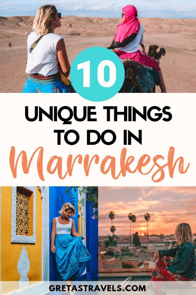 Planning a trip to Marrakech? Discover these 10 unique things to do in Marrakech, that you have to add to your Marrakech travel bucket list! #marrakech #Morocco #bestthingstodo #traveladvice #africa