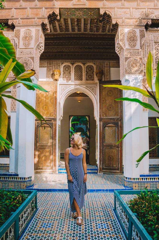 Wandering around Bahia Palace in Marrakech, Morocco