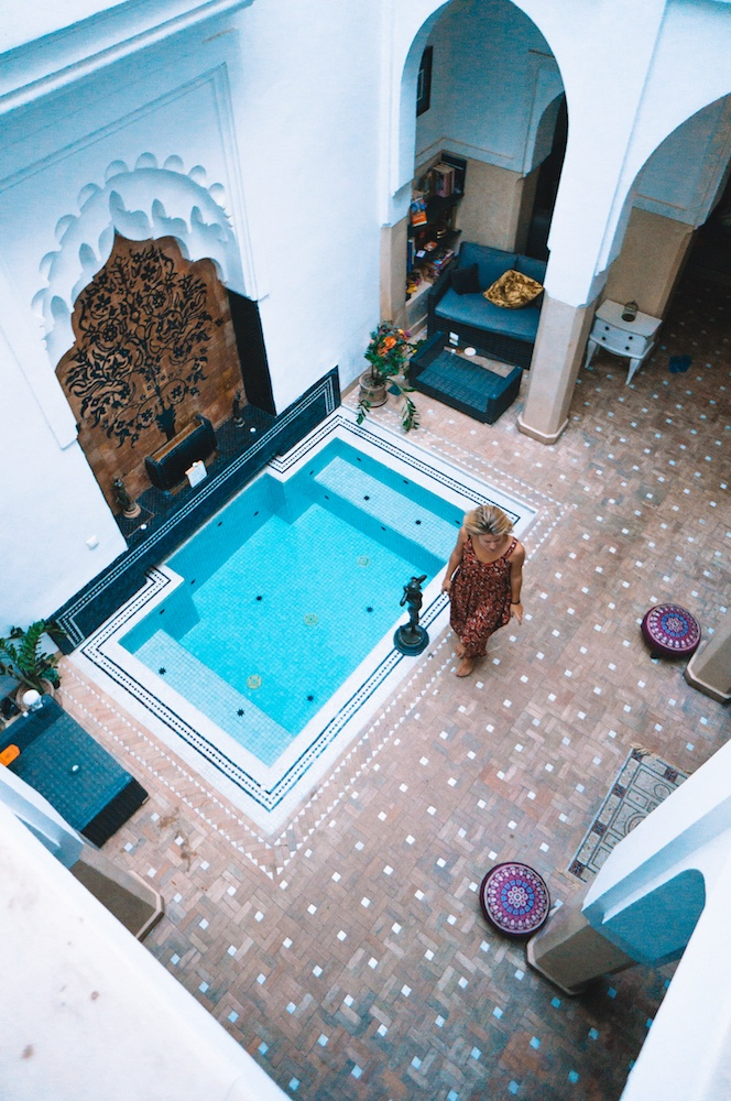 The inner courtyard of Riad Star in Marrakech