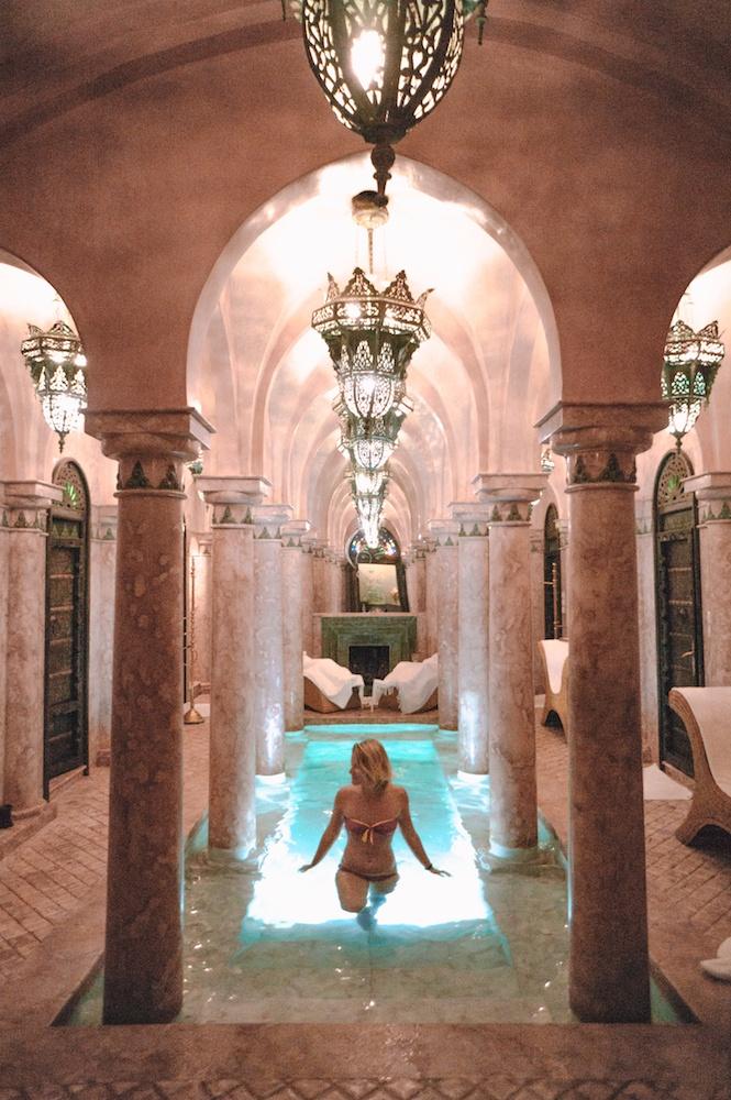 The spa pool at La Sultana Hotel in Marrakech, Morocco
